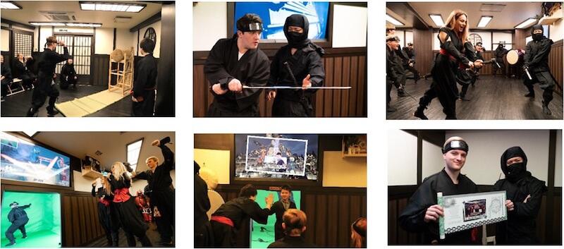 VR忍者道場の体験者