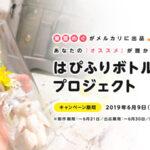 東雲めぐ「はぴふりボトルメール」プロジェクト