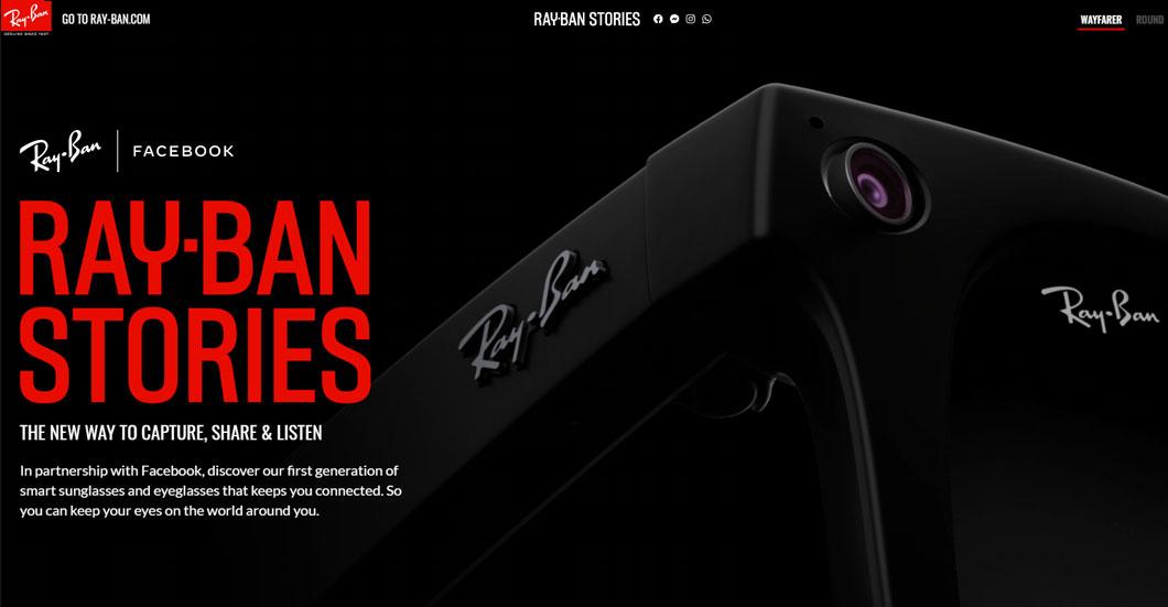 フェイスブックの第1世代スマートグラス「Ray-Ban Stories」が発売!